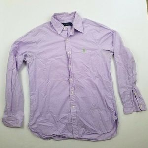 Ralph Lauren Mens Long Sleeves Shirt Purple